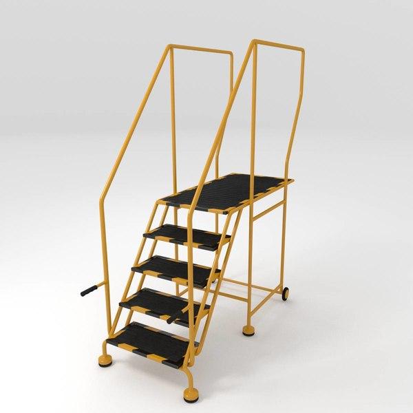 step ladder 3d model