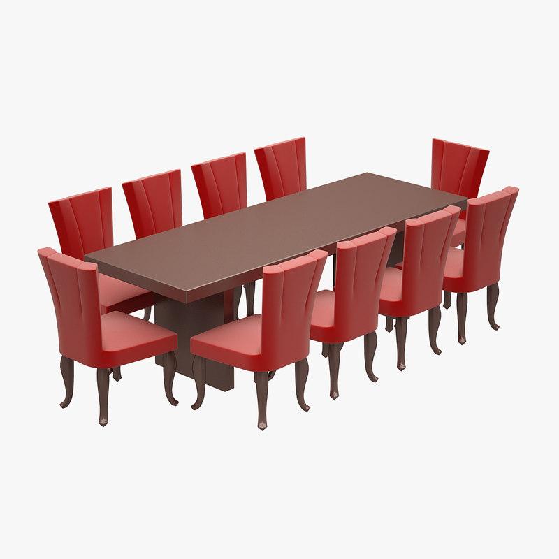 3d dinner set hancerli