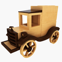 wooden toy car 3d 3ds