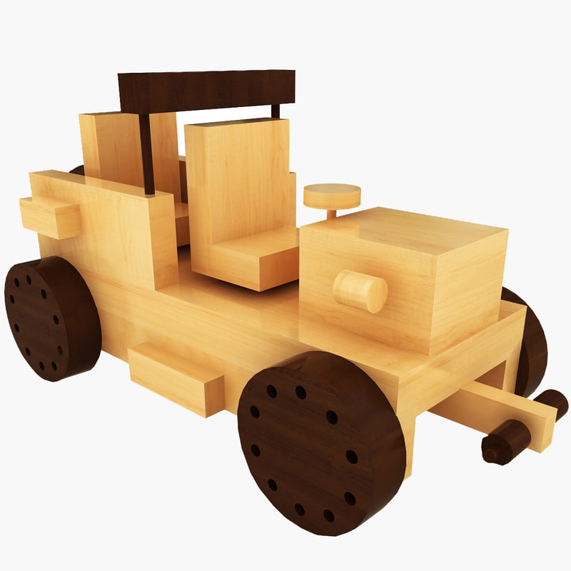 3d wooden toy car