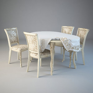 table chairs orimex 3d model