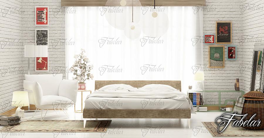 bedroom scene 3d model
