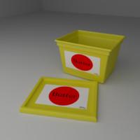 tub butter 3d model