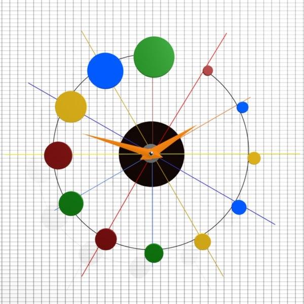 wall clock 19 3d model