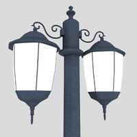 3d street light 3 model