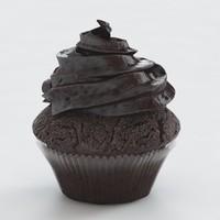 3d chocolate cupcake
