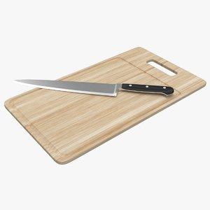 3d chopping board knife model