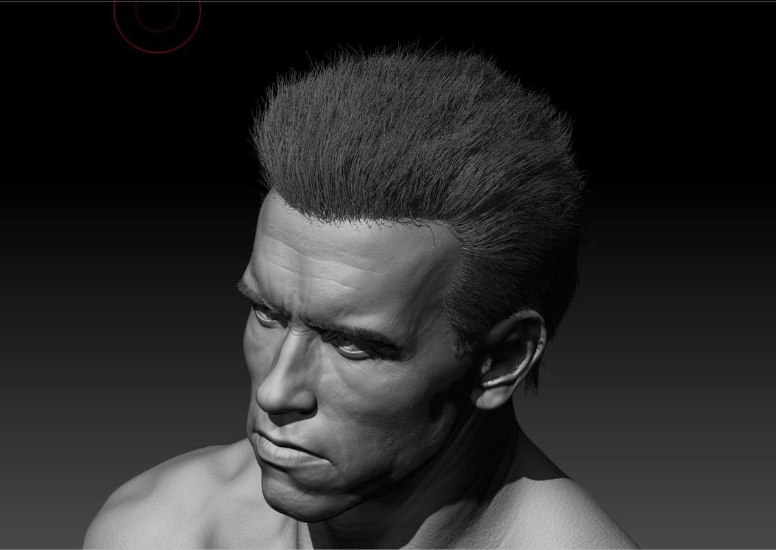 realistic arnold schwarzenegge head obj