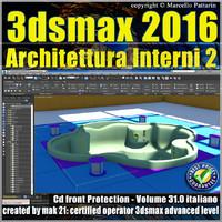 031 3ds max 2016 Architettura Interni vol 31 Italiano cd front