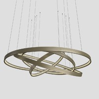 3d model of ringz chandelier