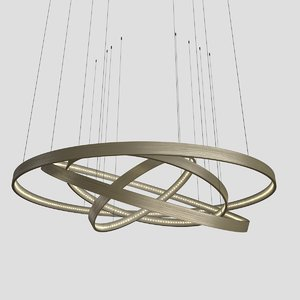 3d model of ringz chandelier