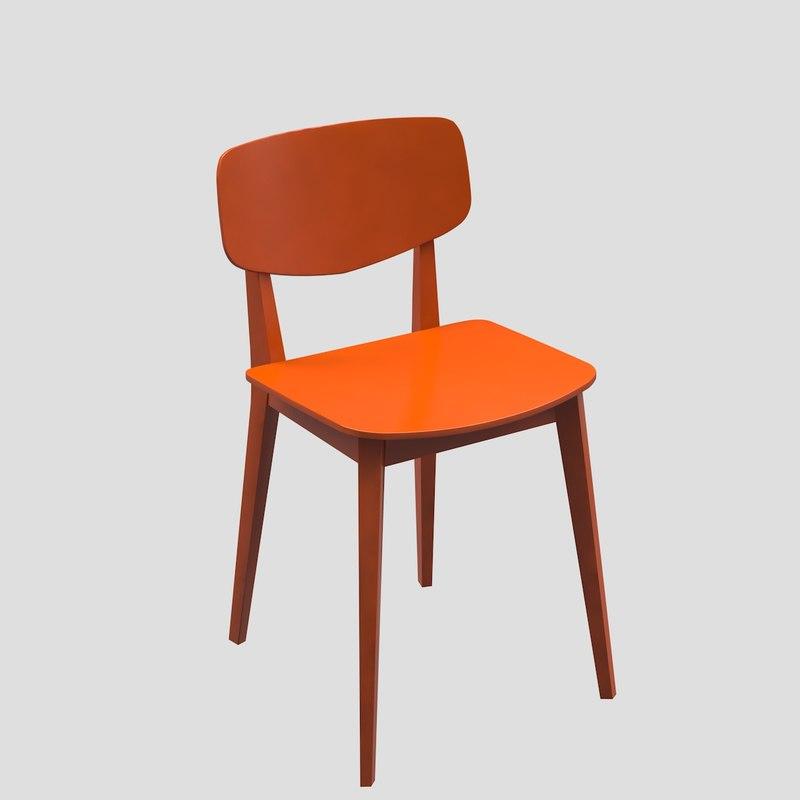 3d doll chair model
