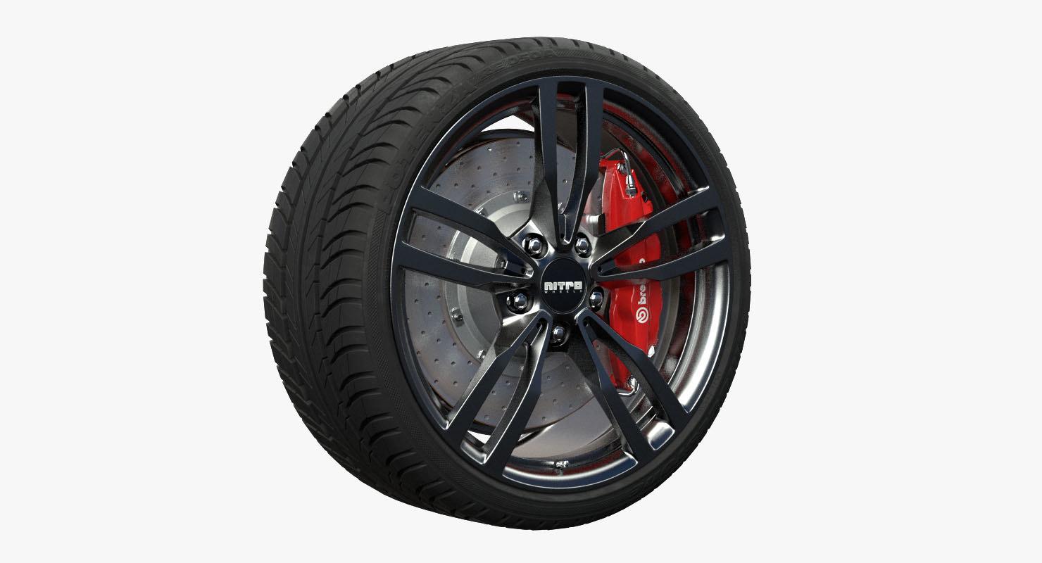 nitro speed wheel 3d obj