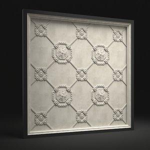 classic ceiling 2 3d model