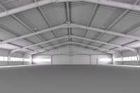 warehouse interior 3d model