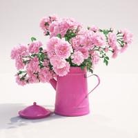 3d model roses flowers