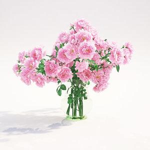 roses flowers 3d model