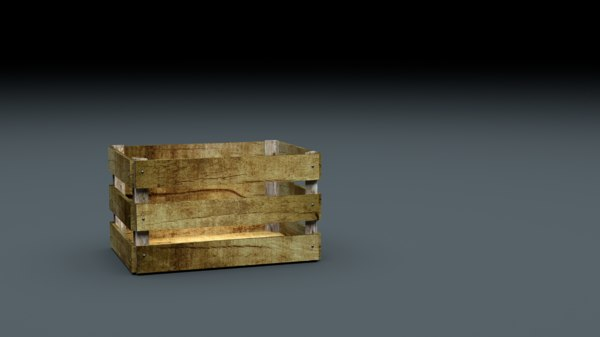 wooden crate fbx