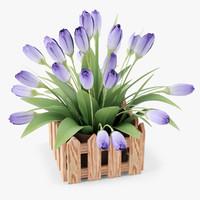 3d flowers pot