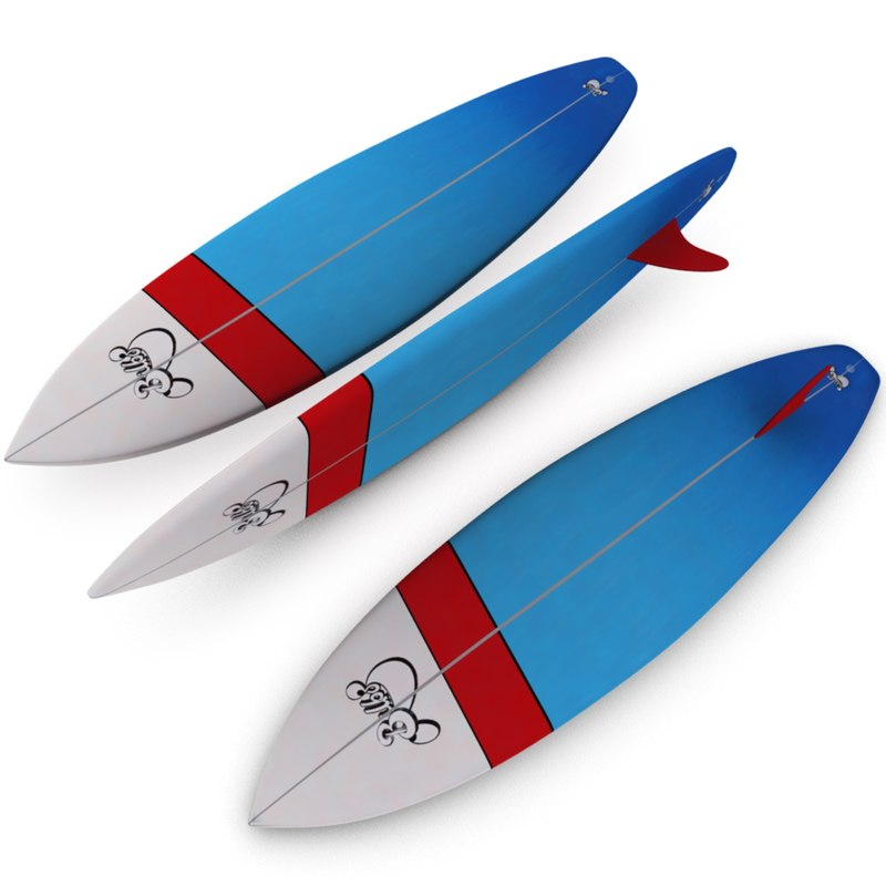 surfboard 3d 3ds