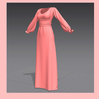 maya dress marvelous designer