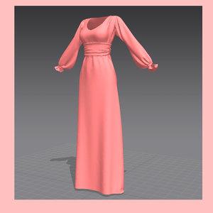 maya dress marvelous designer