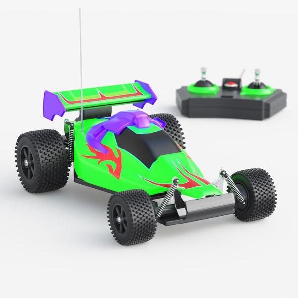 toy car racing 3d max