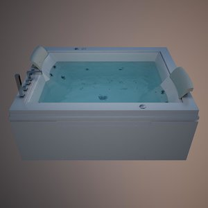 tub 2 person nera 3d 3ds