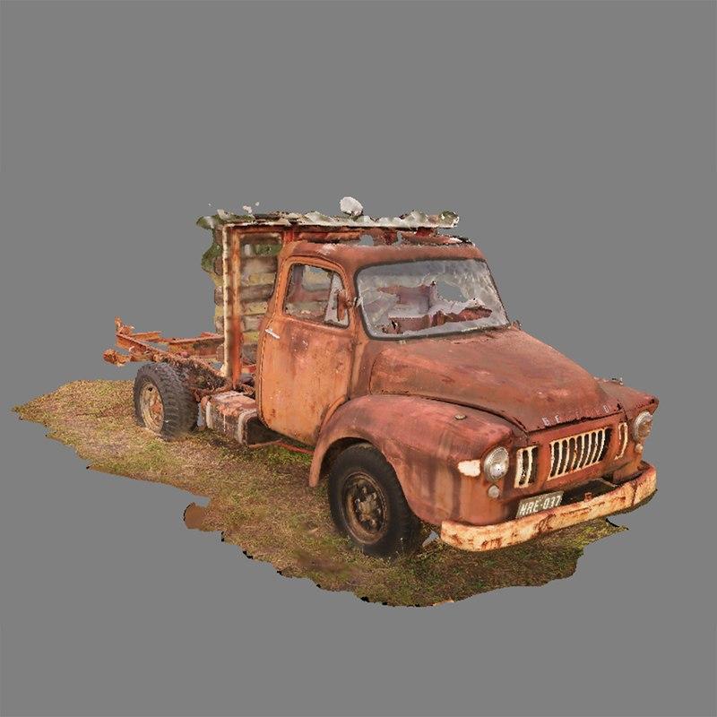 3ds max scan vintage truck