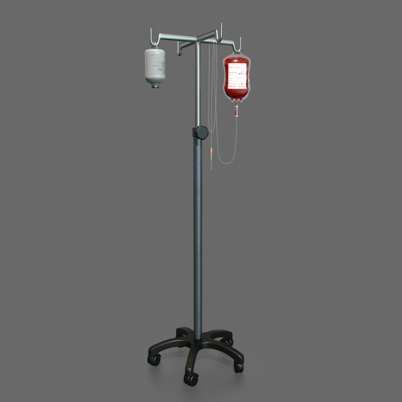 iv blood bag pole max