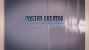 3d poster creator wall