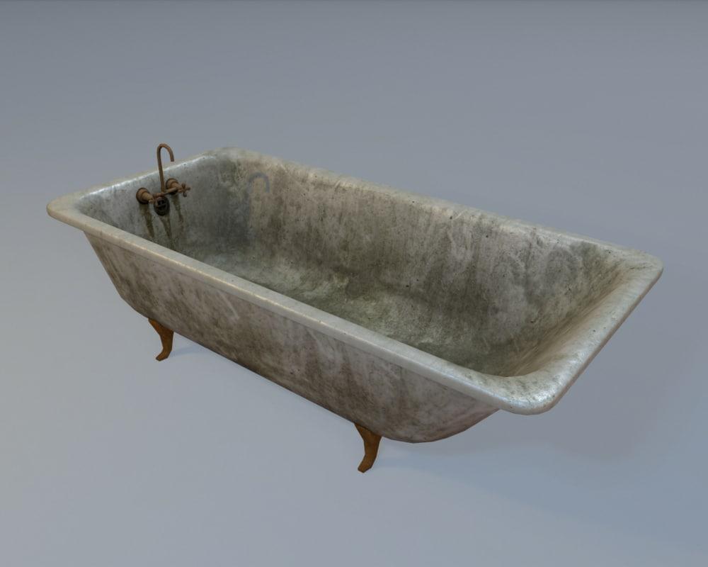 ready bathtub 3d max