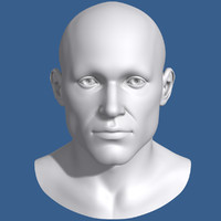 3d model polygonal male head