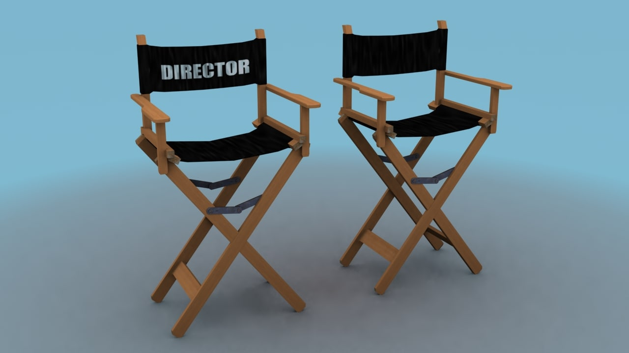 director chairs 3d model
