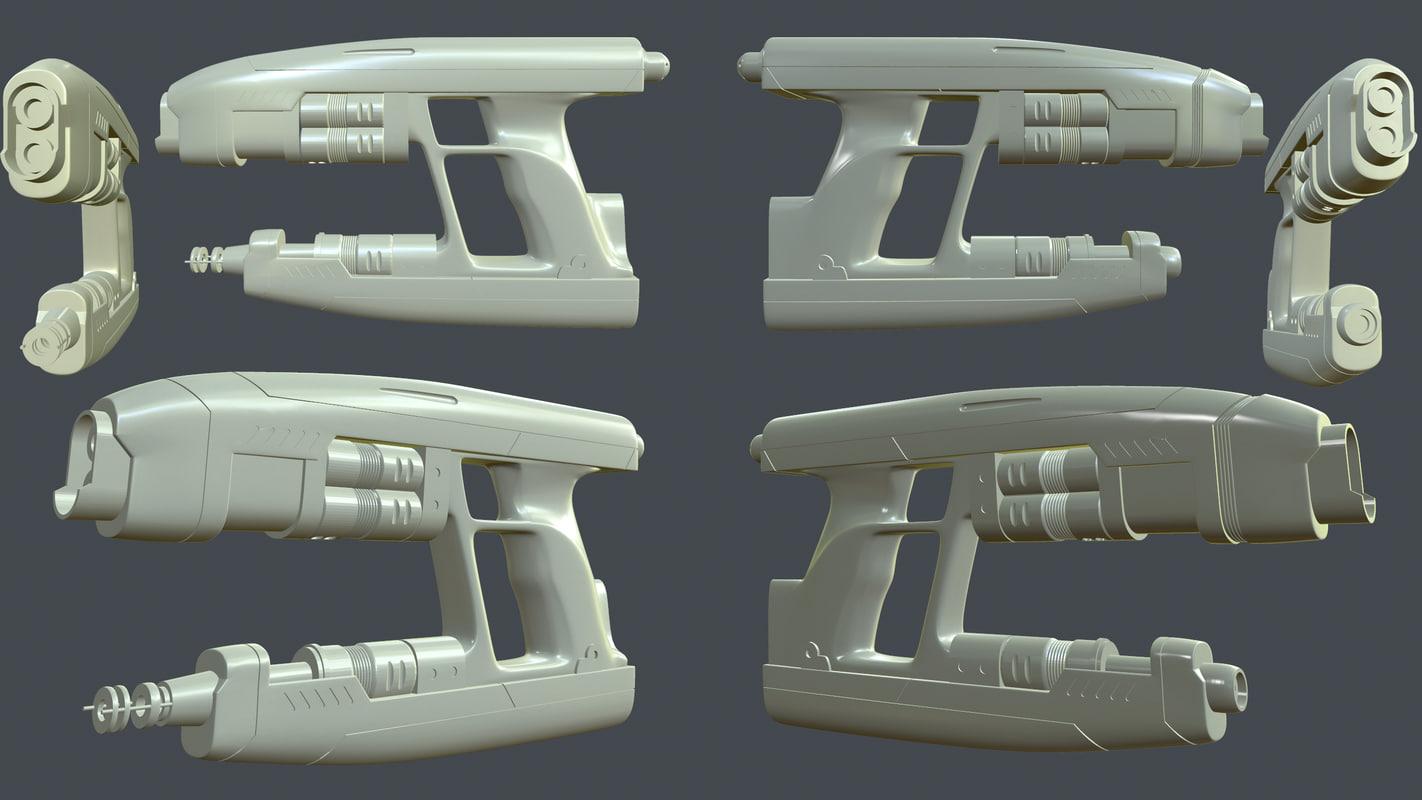 3ds max starlord guns printing