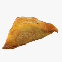 3d model samosa food