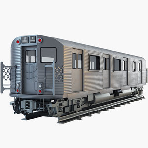 3d new york subway train