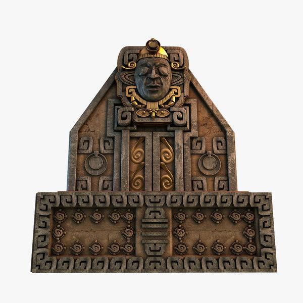 aztec altar obj