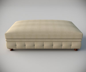 kensington upholstered coffee ottoman 3d max