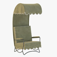 canopy lounge chair 3d max