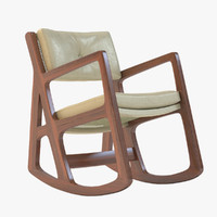 sleepy rocking chair 3d model