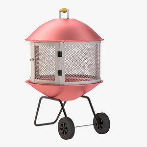 3d outdoor fire-pit door model