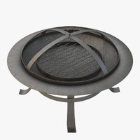 outdoor fire-pit door 3d 3ds