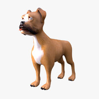 3d dog cartoon animation model