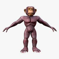3d cartoon monkey