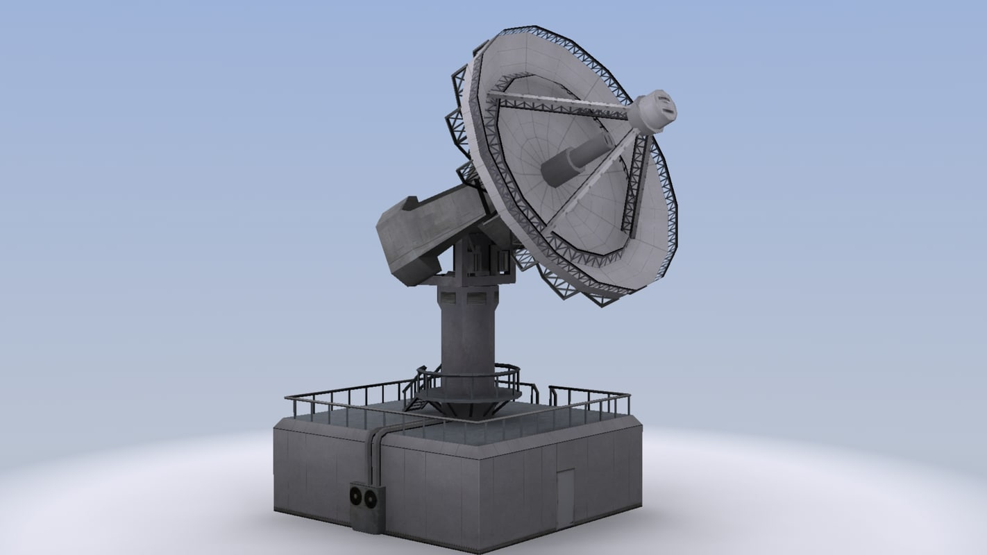 3d 3ds radar radio dish
