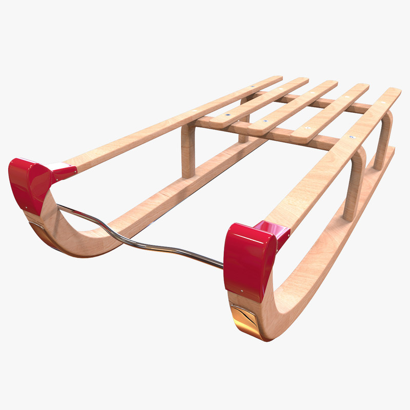 max wooden sledge modelled