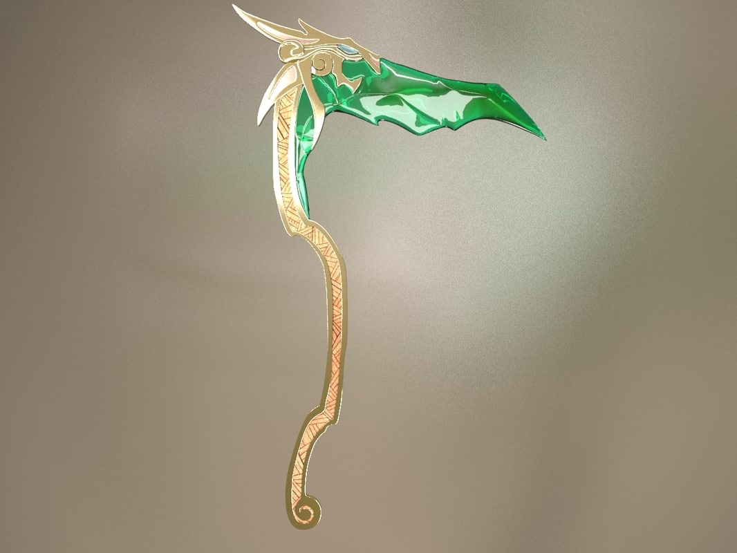 3ds max weapon scythe