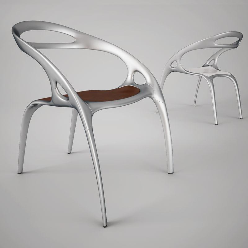 3d bernhardt design chair ross lovegrove