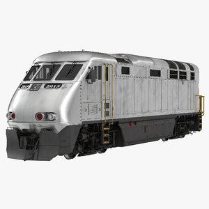 3d model diesel electric locomotive generic